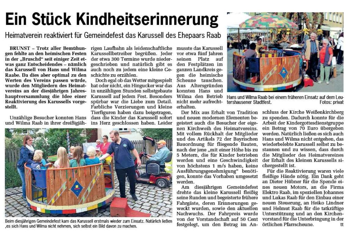 Quelle: Fränkische Landeszeitung, Ausgabe vom 03.08.2018
